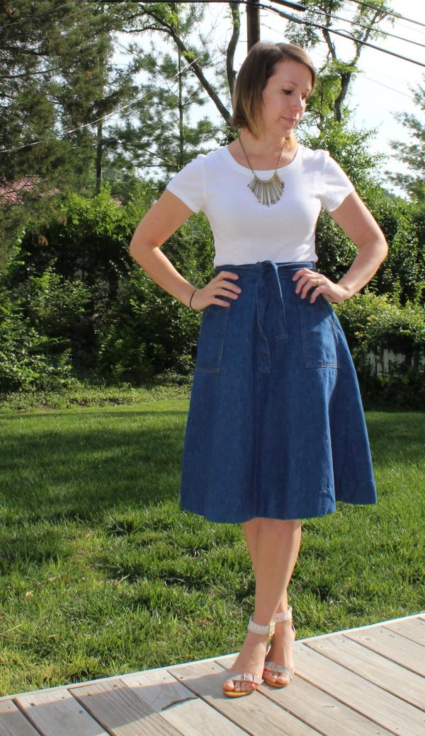 vintage denim skirt st. louis personal stylist