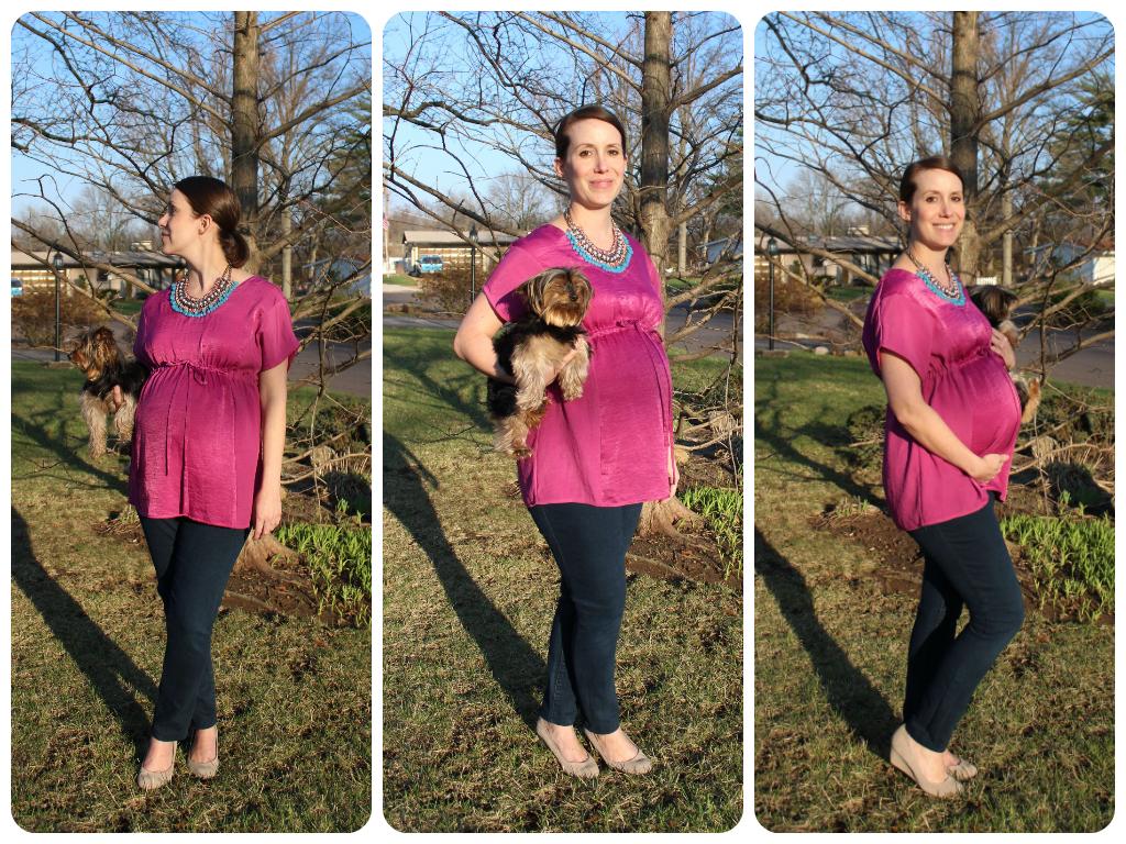 Top: Liz Lange for Target via Kangeroo Kids, jeans: thrifted Heidi Klum, wedges: Target, necklace: Zara