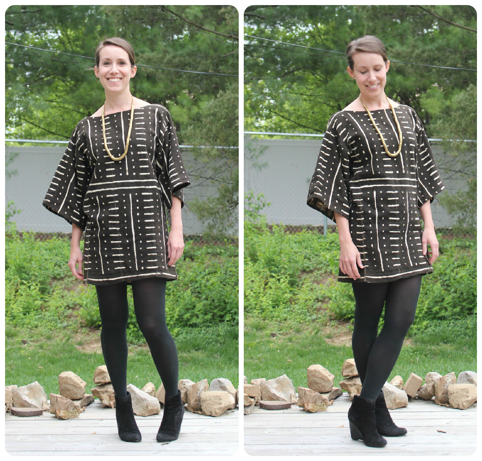 mindful closet: african mud cloth dress