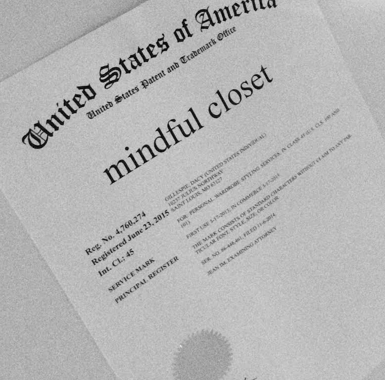 mindful closet trademark