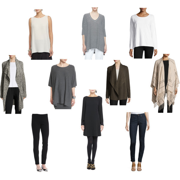 10 piece eileen fisher capsule wardrobe