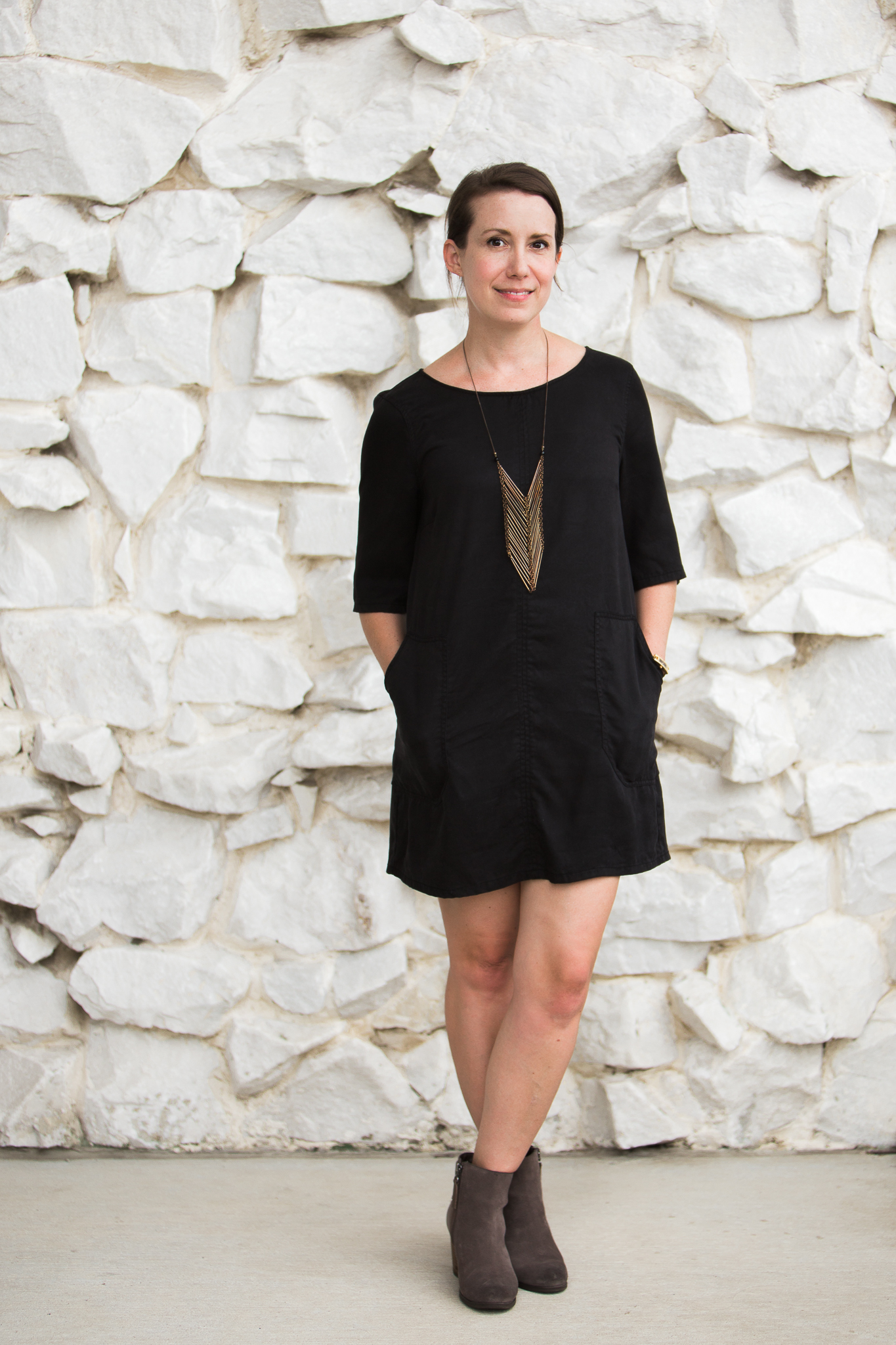 mindful closet: dress and boots