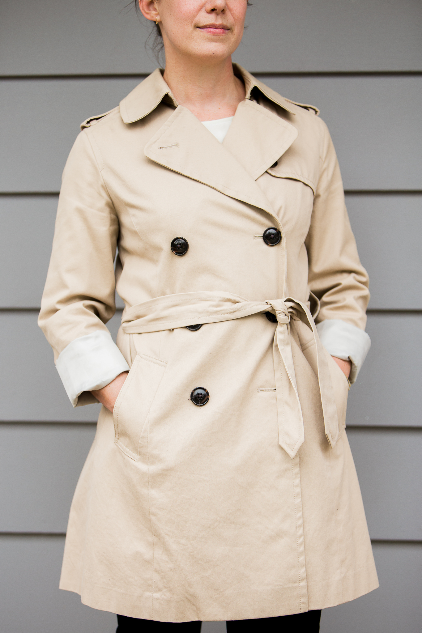 mindful closet st louis personal stylist: trench coat