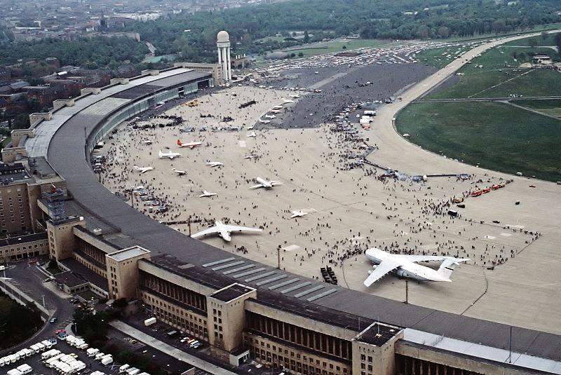 Tempelhof Airport in 1984. Source:  Wikipedia .