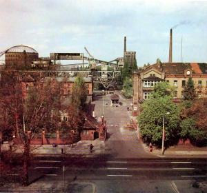 The facility in the 1970s. The fuel storage containers are in the background Source: Berlin Senate for City Development