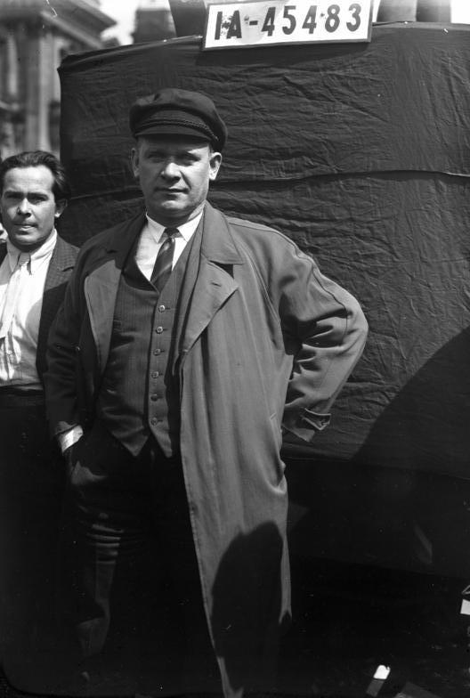 Ernst Thälmann in 1932, not long before his arrest by the Gestapo. Source:  Wikipedia Commons
