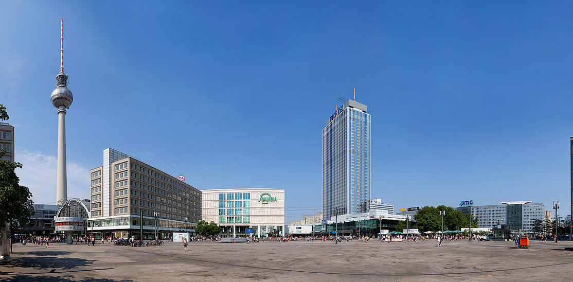 Alexanderplatz today. Lots of concrete. That's about it. Photo credit:  creative commons.