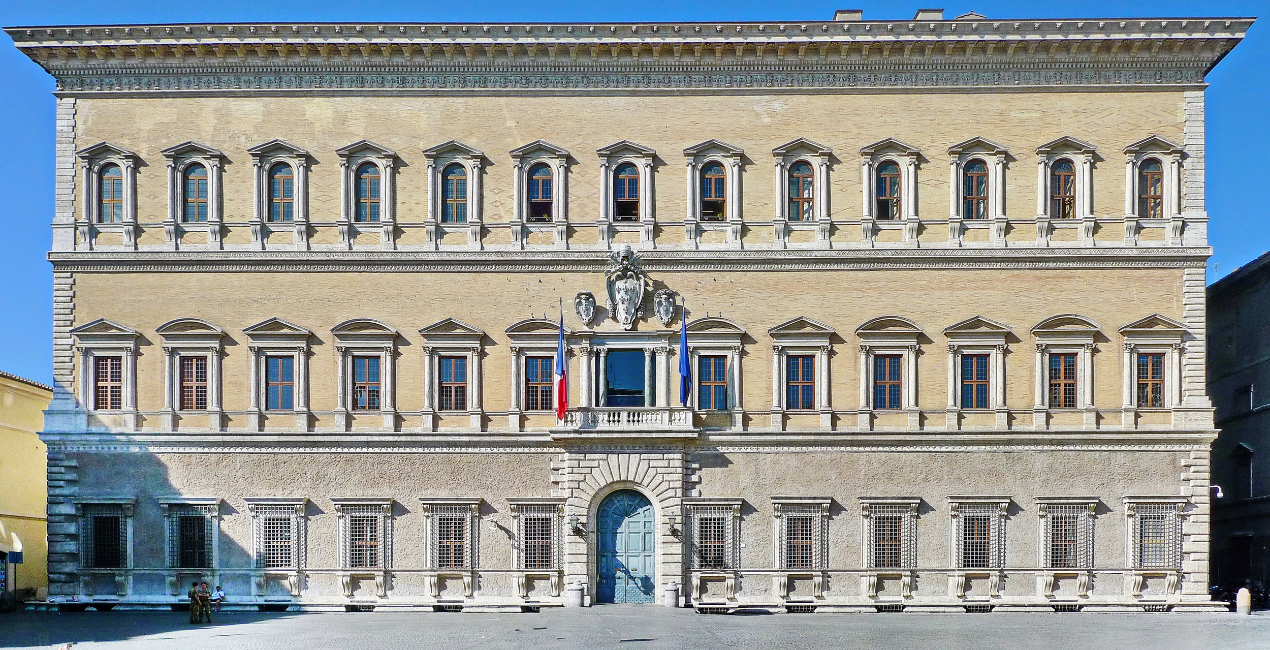 The Palazzo Farnese in Rome. Aldo Rossi drew inspiration from this facade for the Quartier Schützenstraße in Berlin. Photo Credit:  Creative Commons