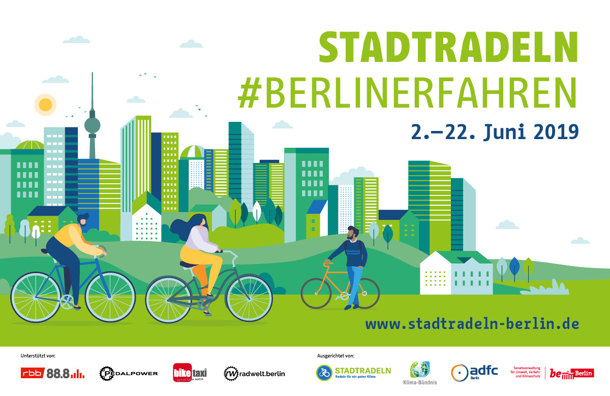 The City Cycling Challenge in Berlin runs from June 2-June 22, 2019. Participation is free.