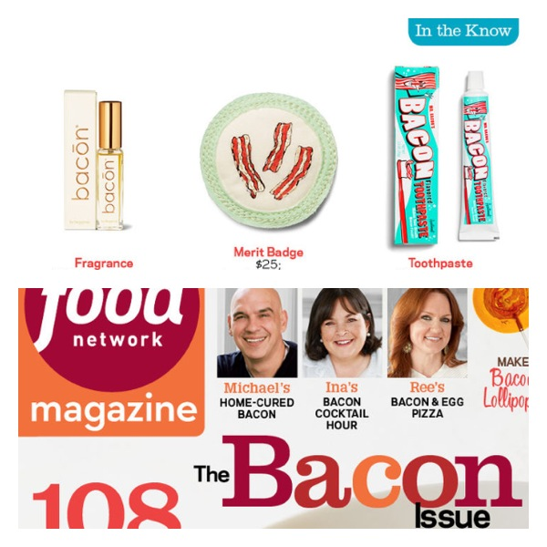 The 'Bringing Home the Bacon' badge in the March 2014 Issue of The Food Network Magazine