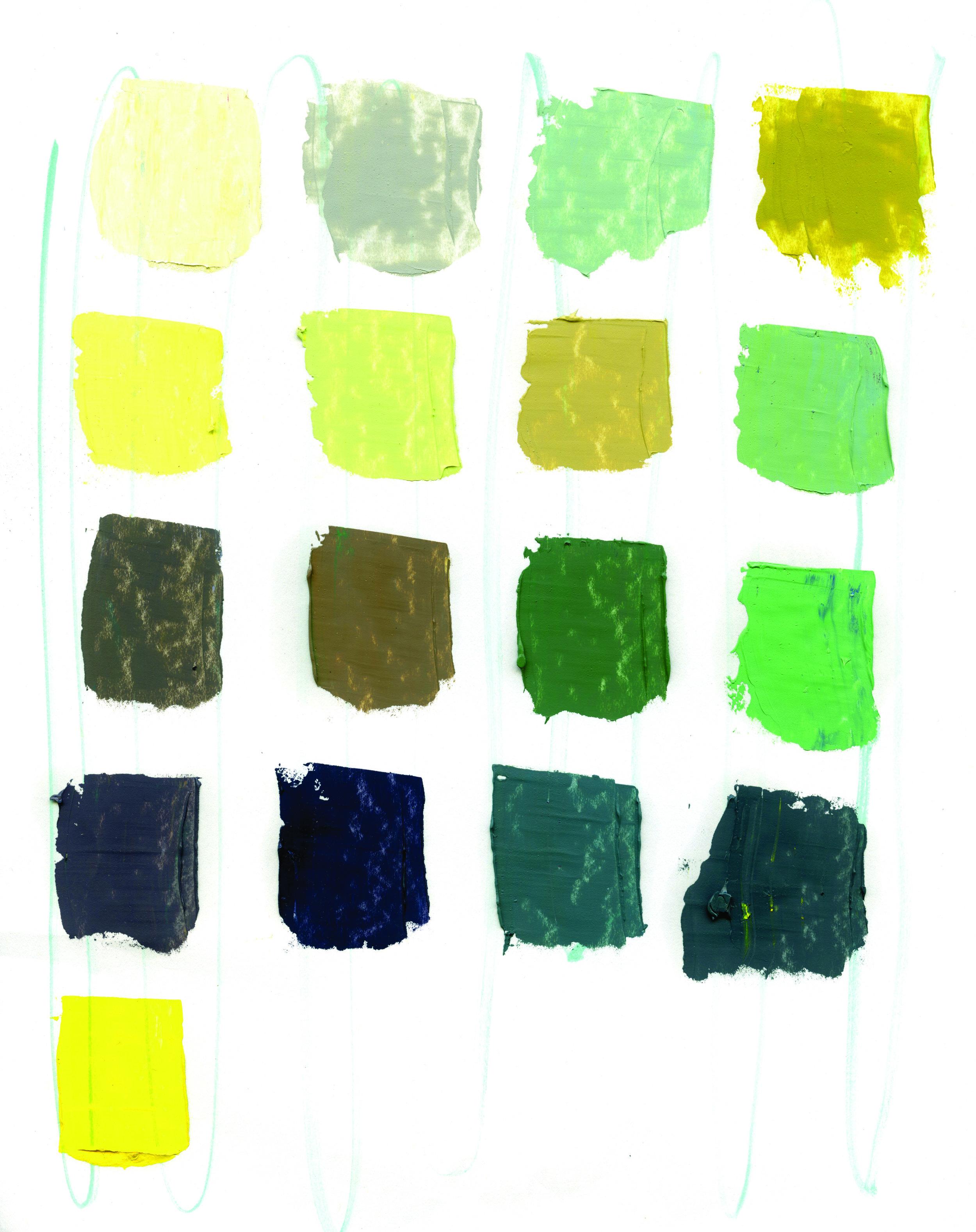 "Color Swatches for ""Kitchen Window — Summer Garden"""