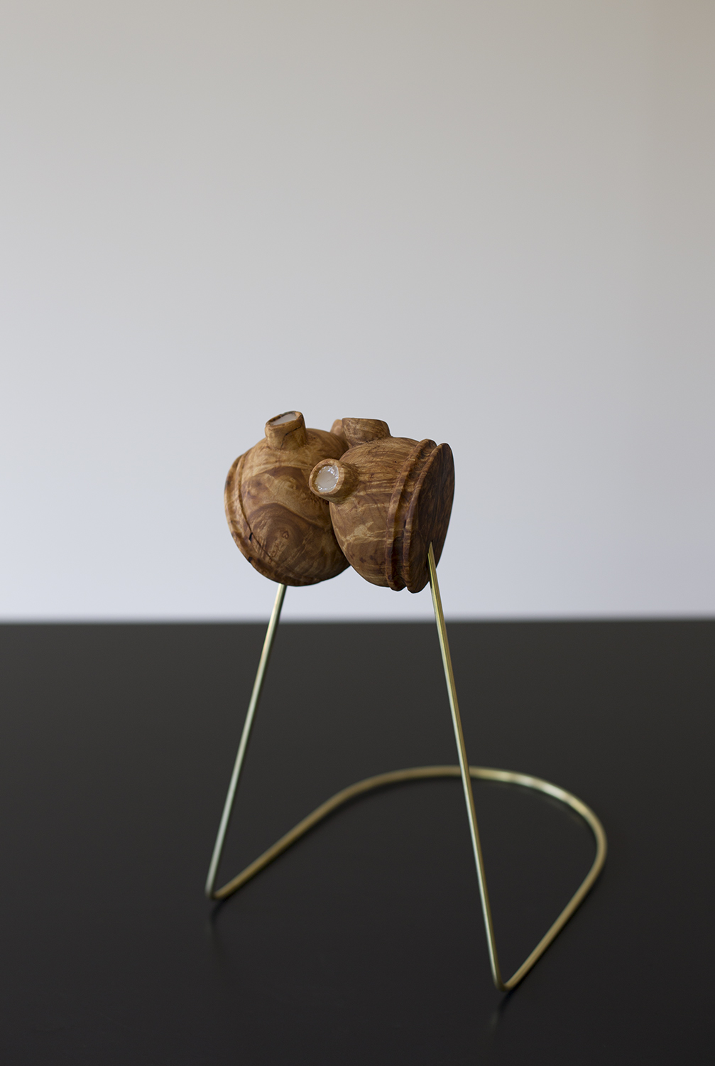 Un-Break the Heart. Wood, brass and silicone. 2014