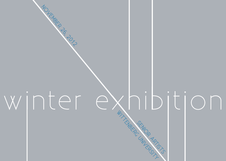 Invitation for Winter Exhibition, Wittenberg University