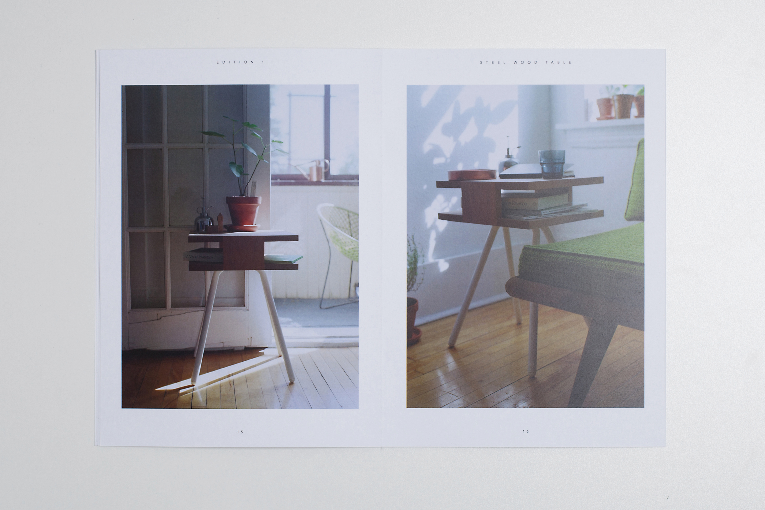 Thom Fougere Catalogue Steel Wood Table