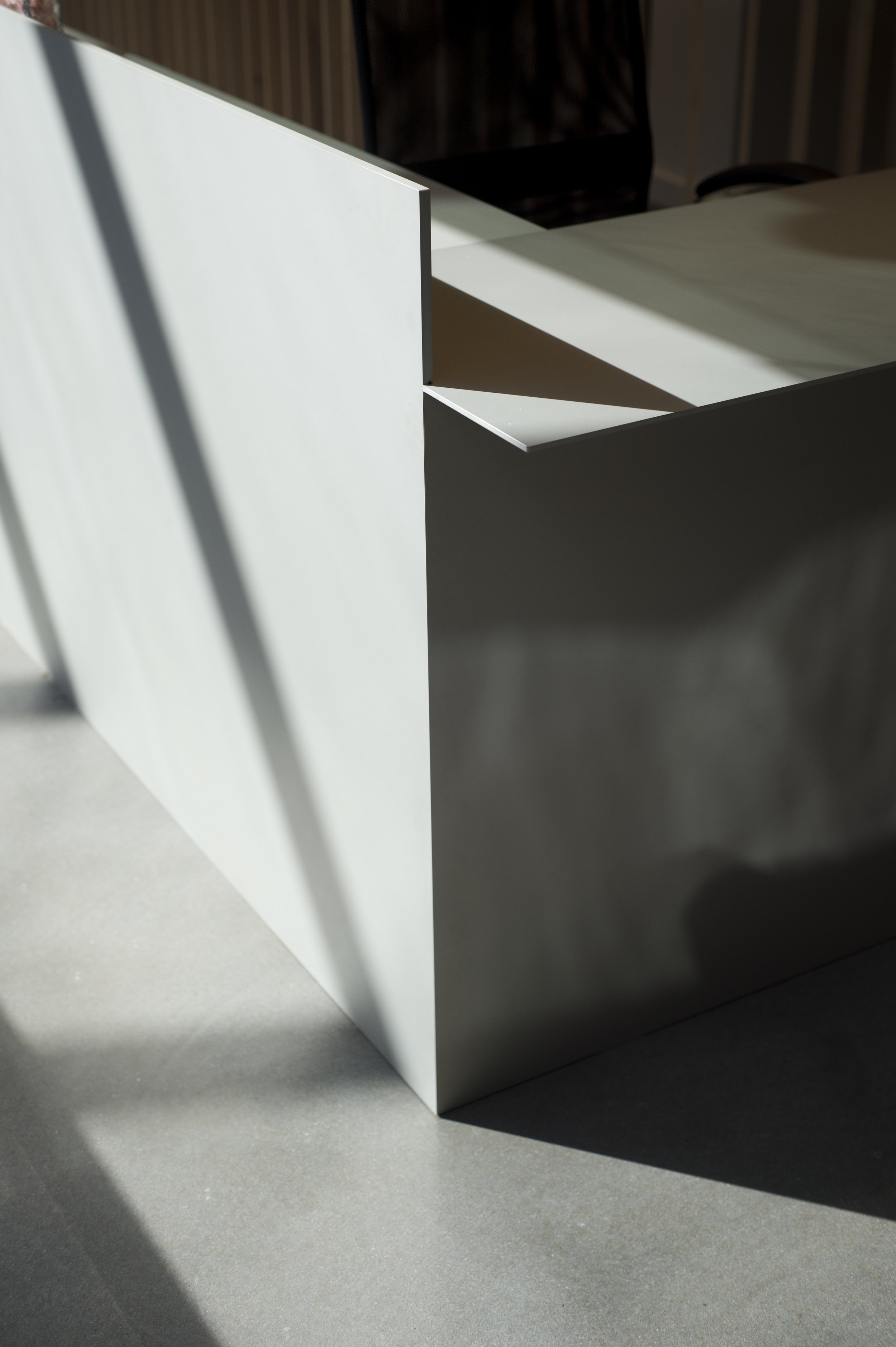 Thom Fougere Aluminum Reception Desk