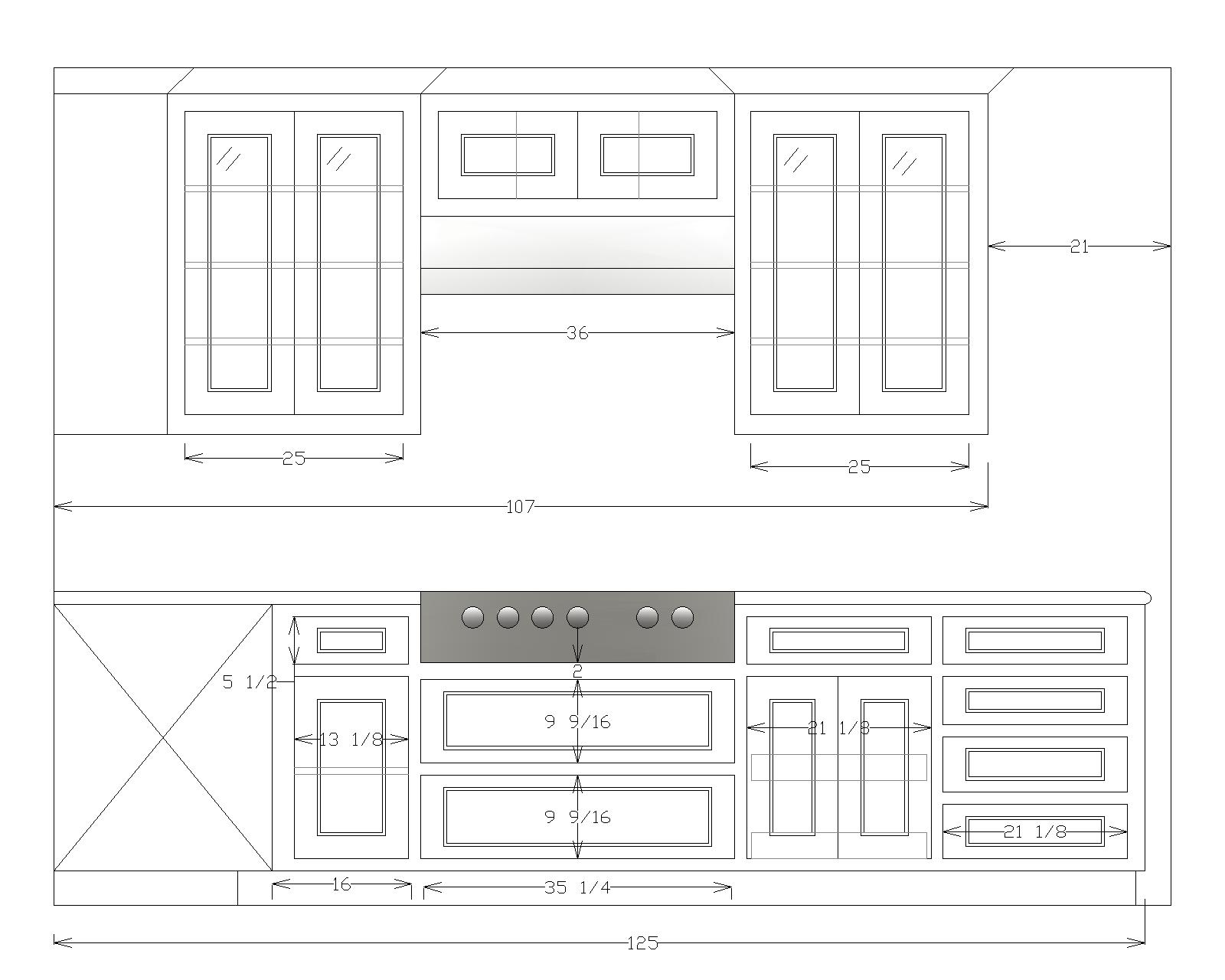 The layout of the new kitchen.