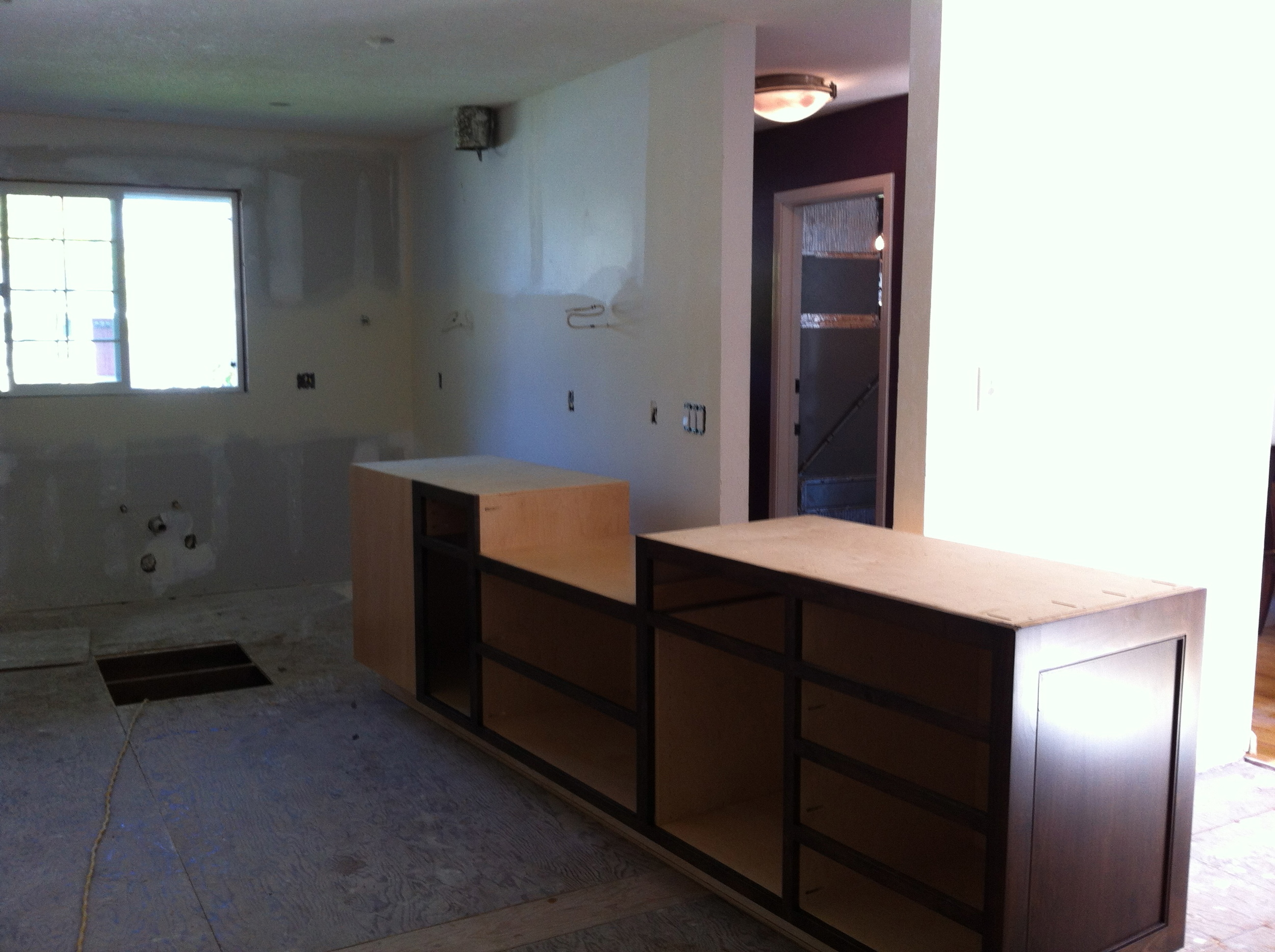 First Section of Cabinets