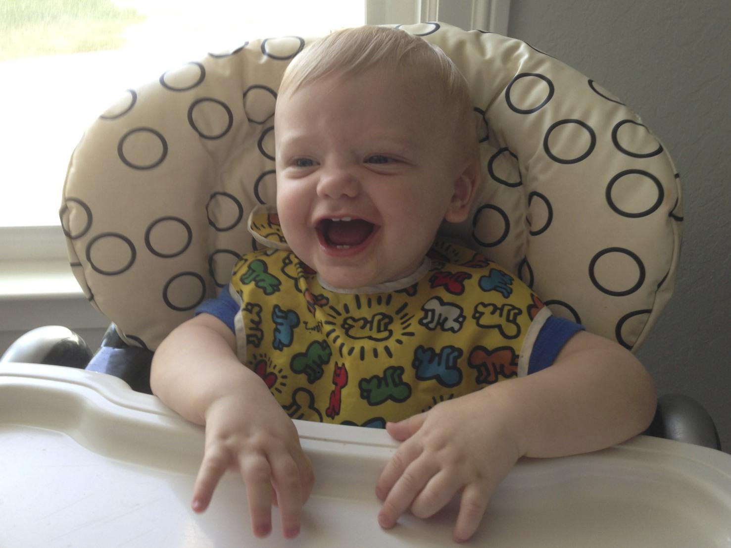 Lochlan's new funny face!