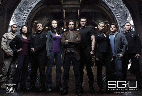 The cast of Stargate Universe (SGU)