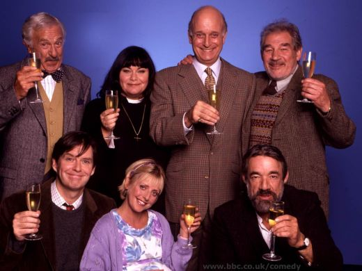 "The cast of ""The Vicar of DIbley"""
