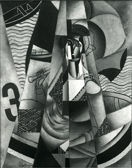 """Jean Metzinger """"Le Canot"""" which was destroyed by the Nazi's during WWII."""