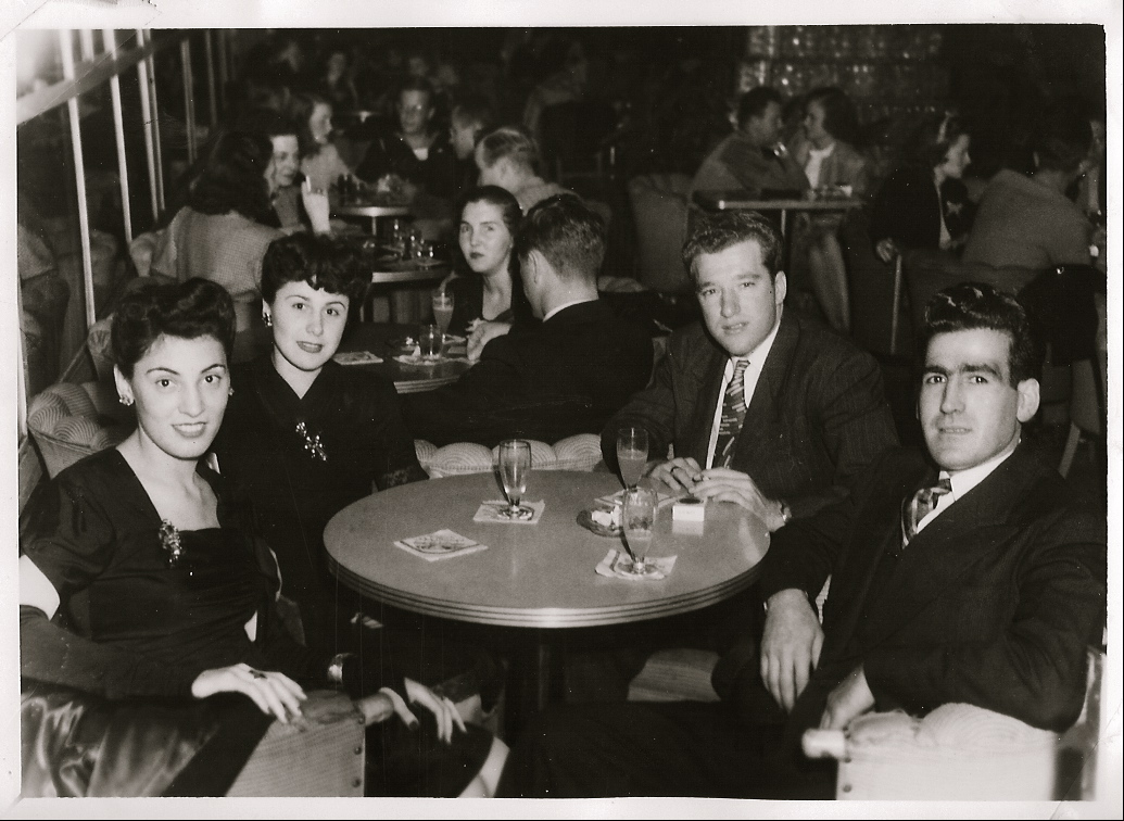 Left to Right: My Grammie Mary Tejada, Mary Z., Uncle Red Z. and my Grandpa Frank Tejada