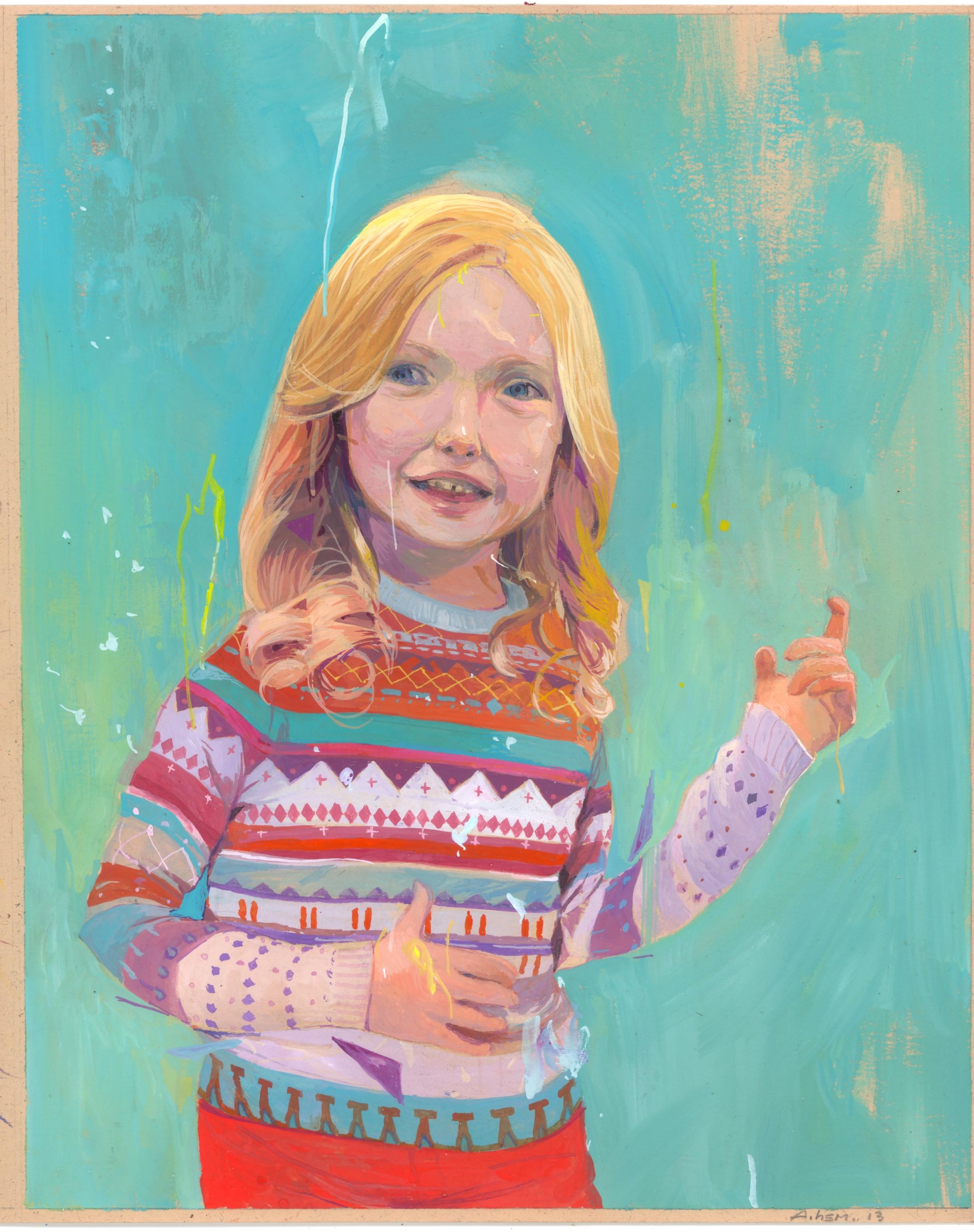 """Paley's """"5th Birthday"""" Portrait by Andrew Hem"""