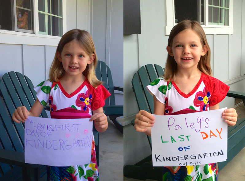 Paley at the beginning and end of Kindergarten. What a difference a year makes.