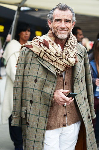 Cardigan-with-Windowpane-Ulster-columious-scarf-one-of-a-kind-hair-style.jpg