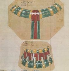 Boucheron's original sketch of the Bracelet with matching necklace.
