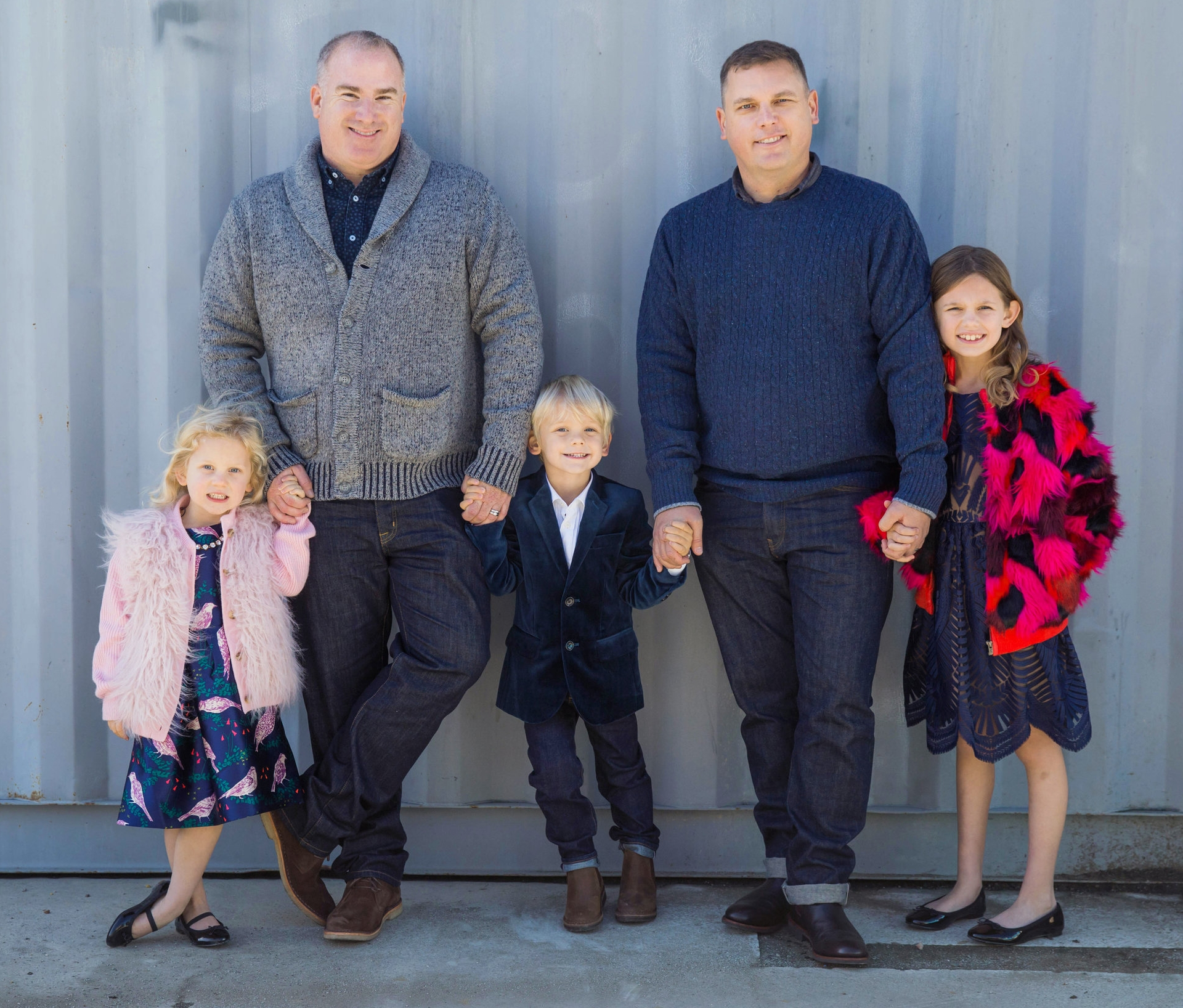 We Five. C, B, P, L & M - Two Dads +Three Great Kids...........our family grew & 5 is PERFECT!