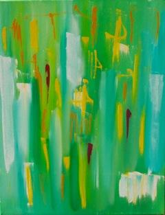 'L'Amerique III' (oil on canvas)
