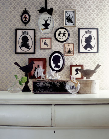 """"""" Silhouette art has charmed us for centuries. Now, it's making a comeback on pretty new products to live with and wear.""""  http://www.countryliving.com/"""