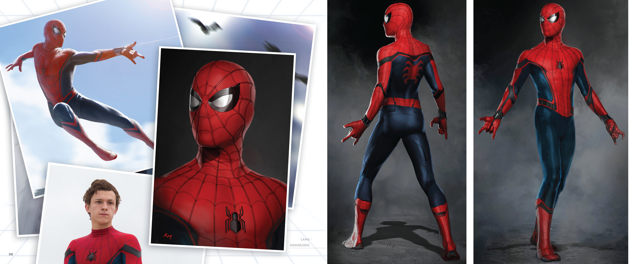 Design and layout for  The Art of Marvel Studio's Spider-Man Homecoming . Content copyright Marvel Entertainment, 2017.