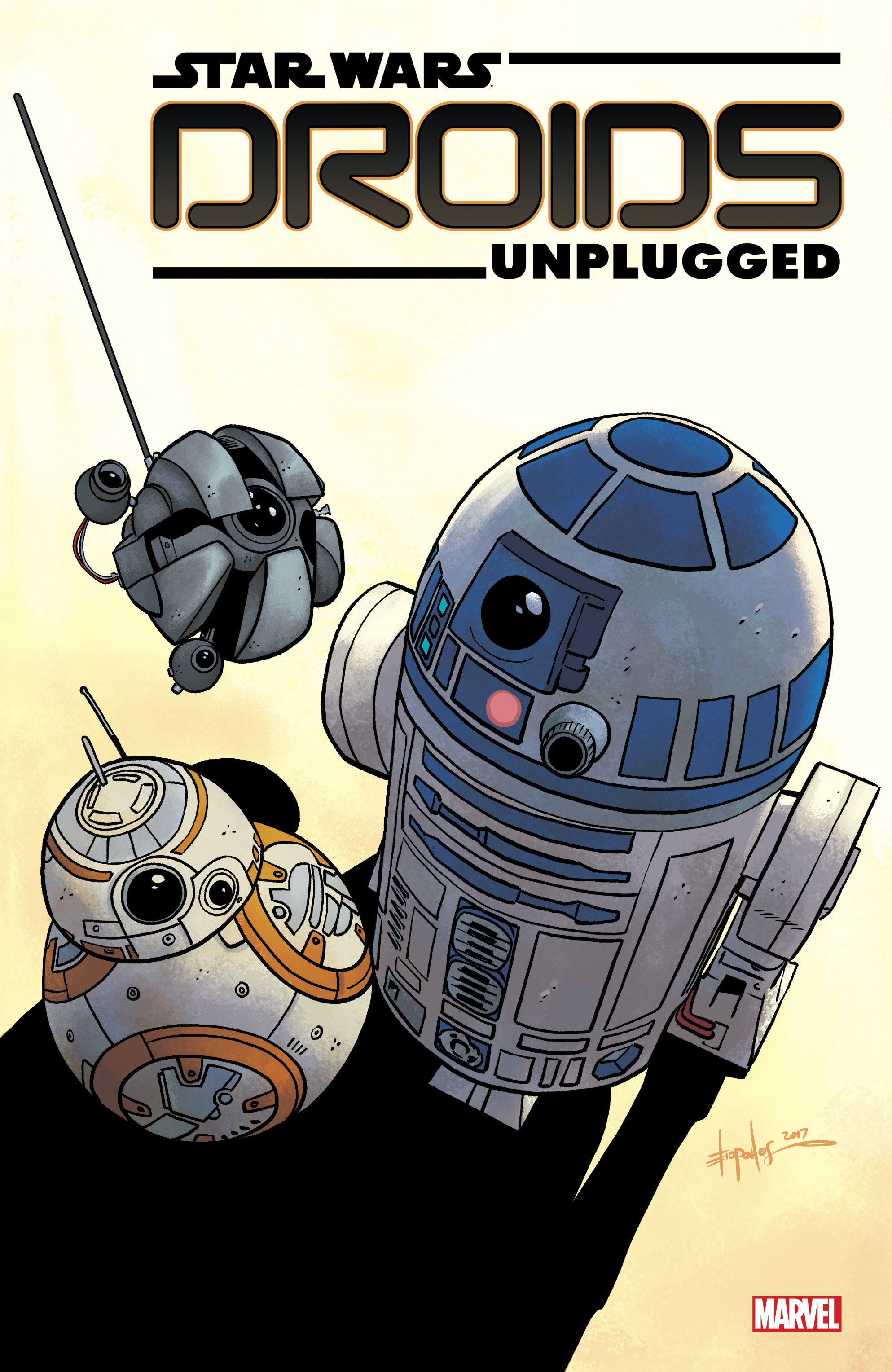 Logo design for  Star Wars: Droids Unplugged . Content copyright Marvel Entertainment, 2017.