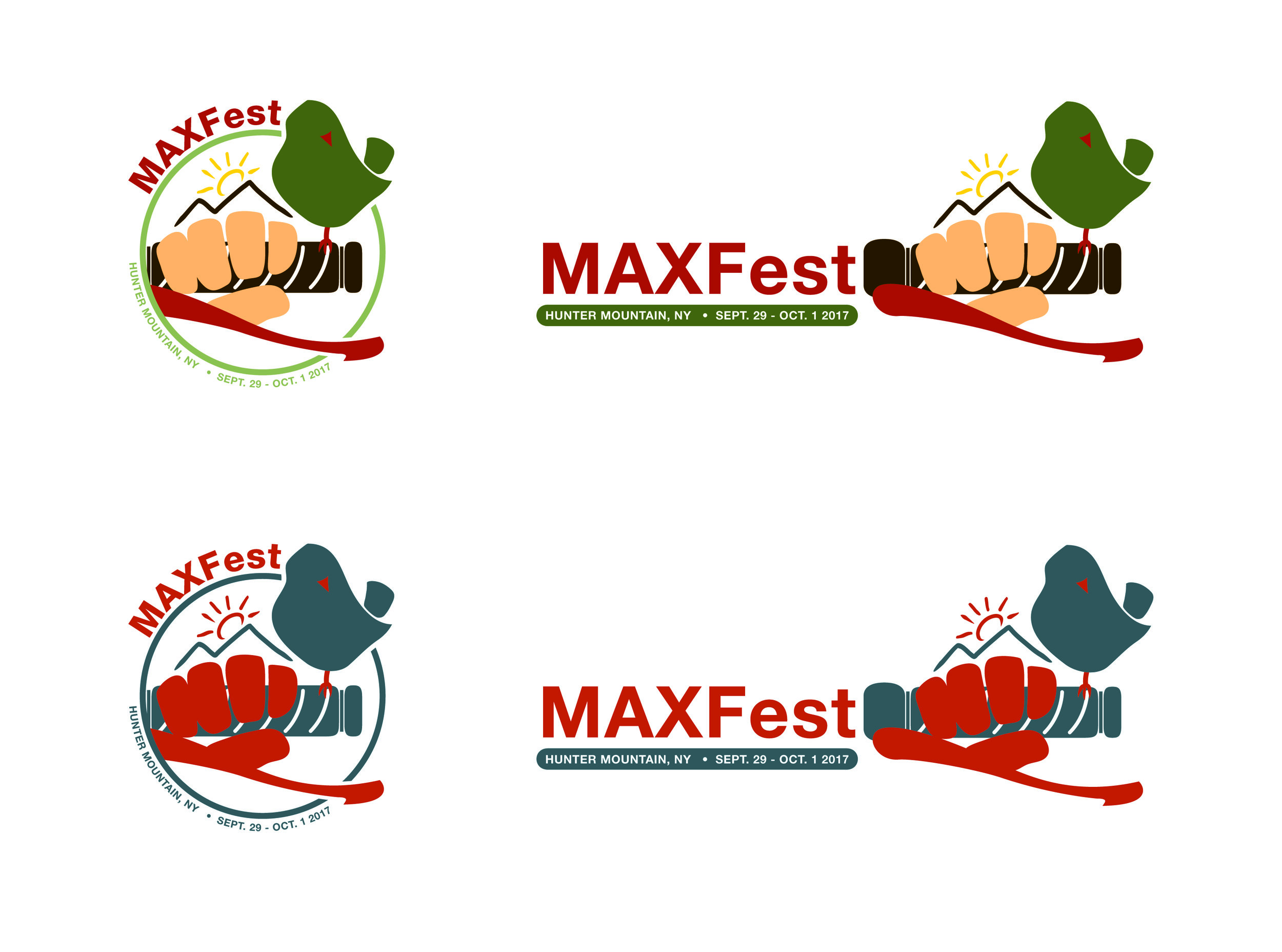 Logo illustration for MAXFest, a promotional event for Max BMW Motorcycles, in Brookfield, CT.