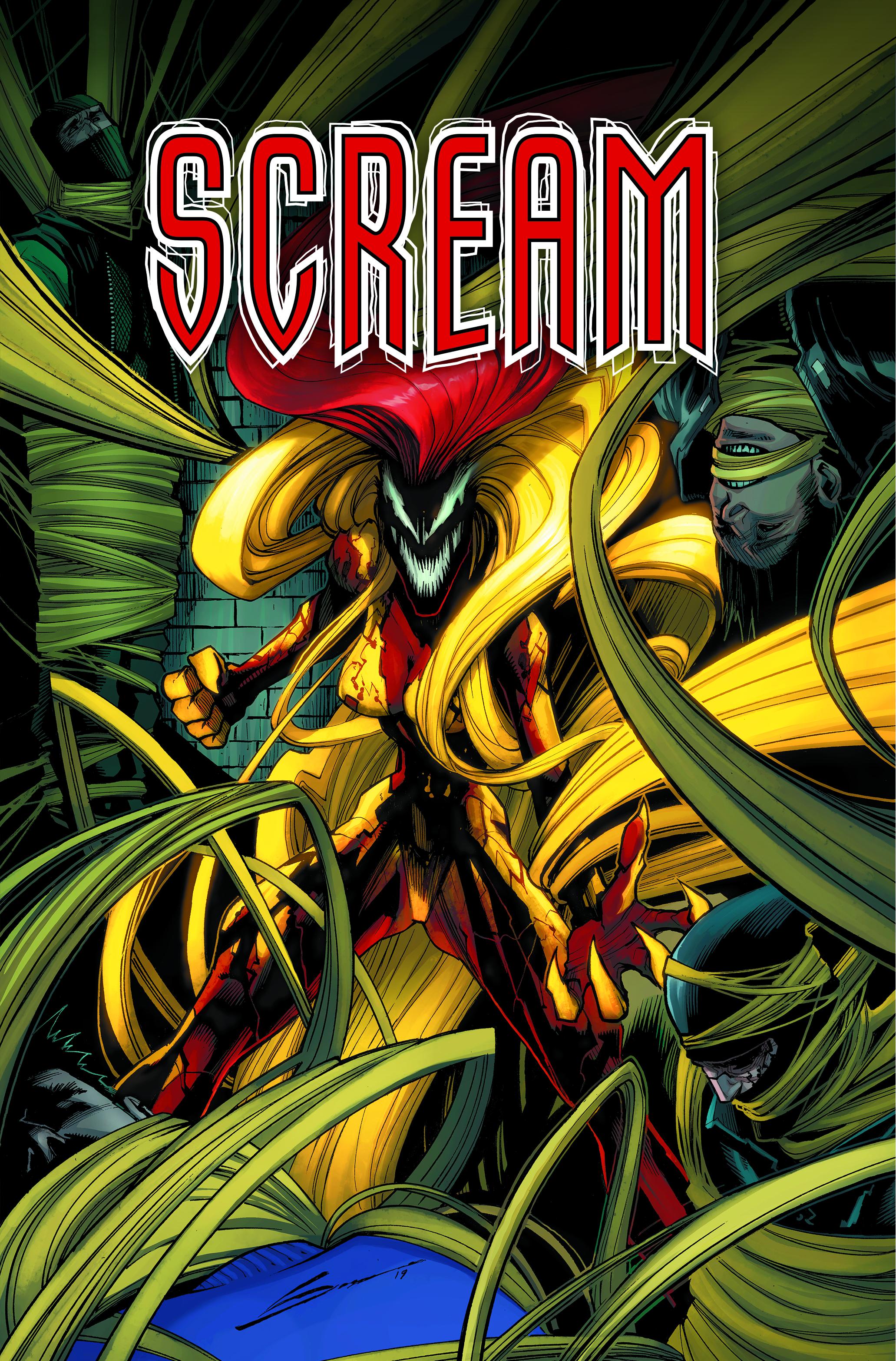 Logo design for  Scream . Content copyright Marvel Entertainment, 2019.