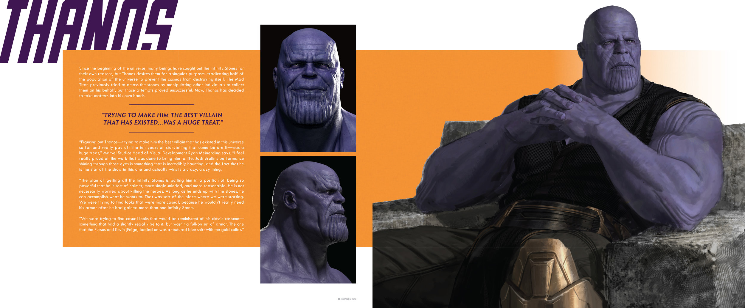 Design and layout for  The Art of Marvel Studio's Avengers: Infinity War . Content copyright Marvel Entertainment, 2019.