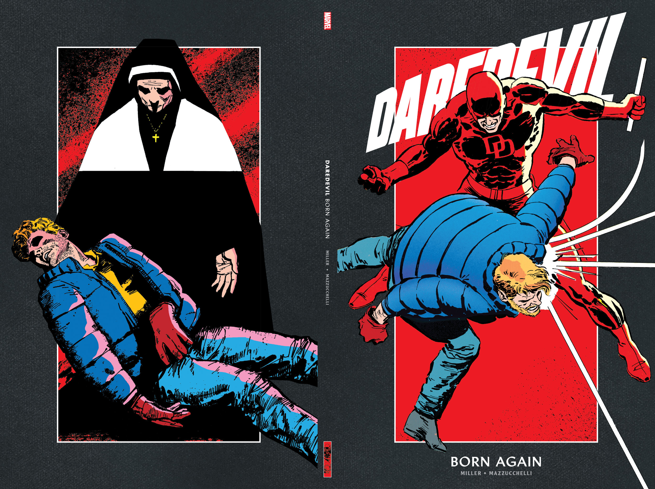 Design and layout for the  Daredevil by Frank Miller  boxset. Content copyright Marvel Entertainment, 2019.