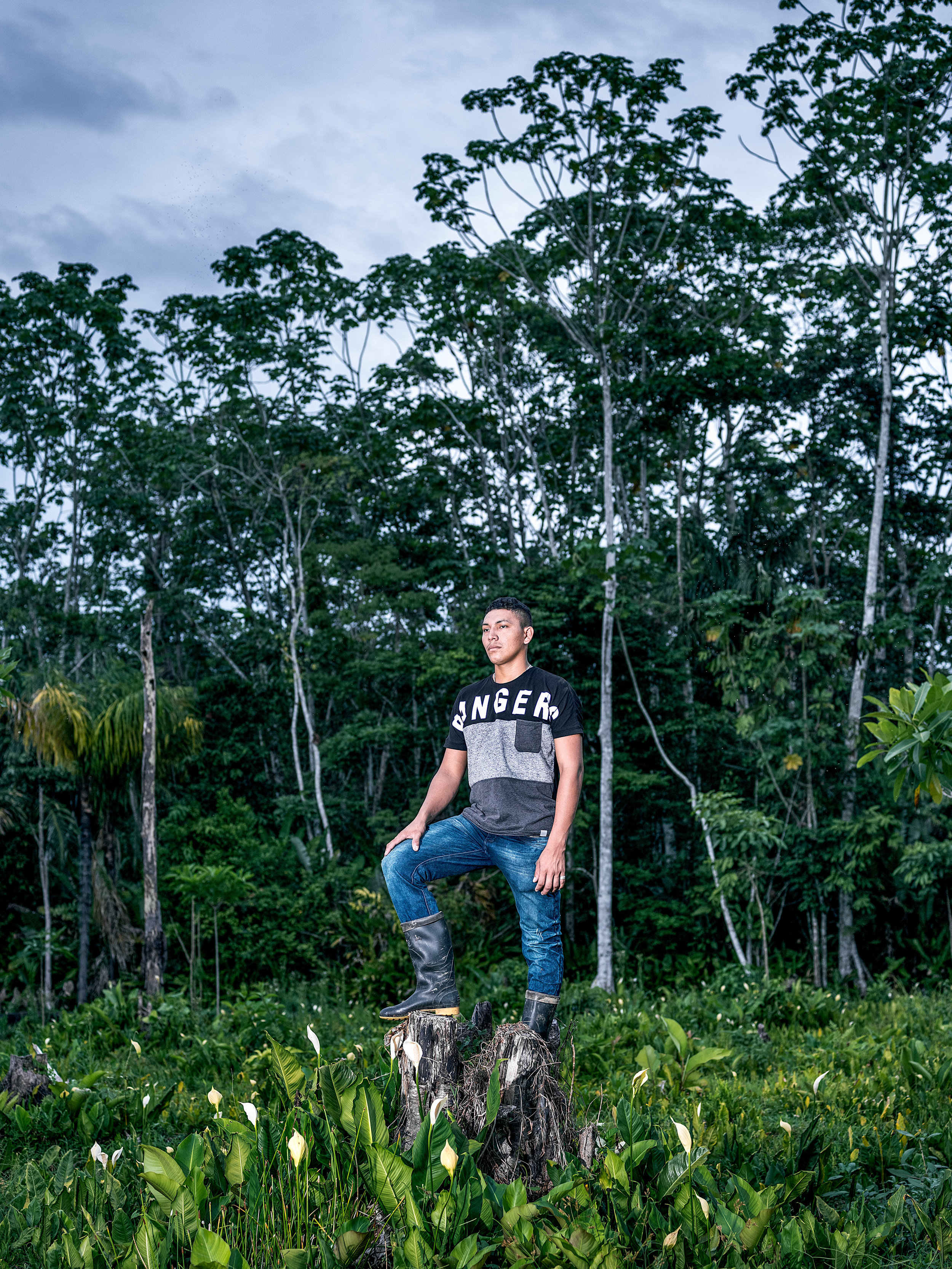 Ramón in front of the biodiversity zone