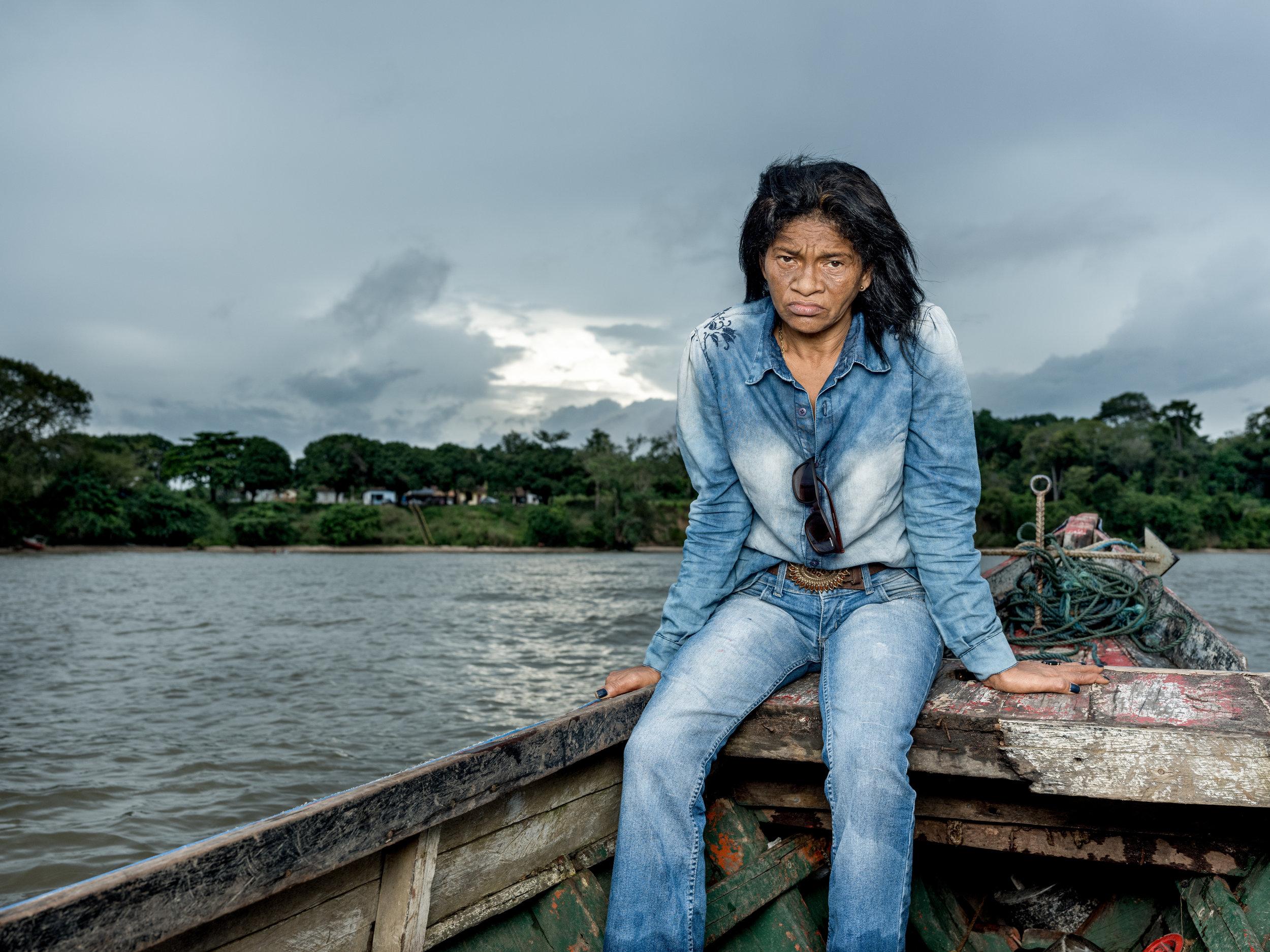 Maria Do Socorro Silva on the river in Barcarena