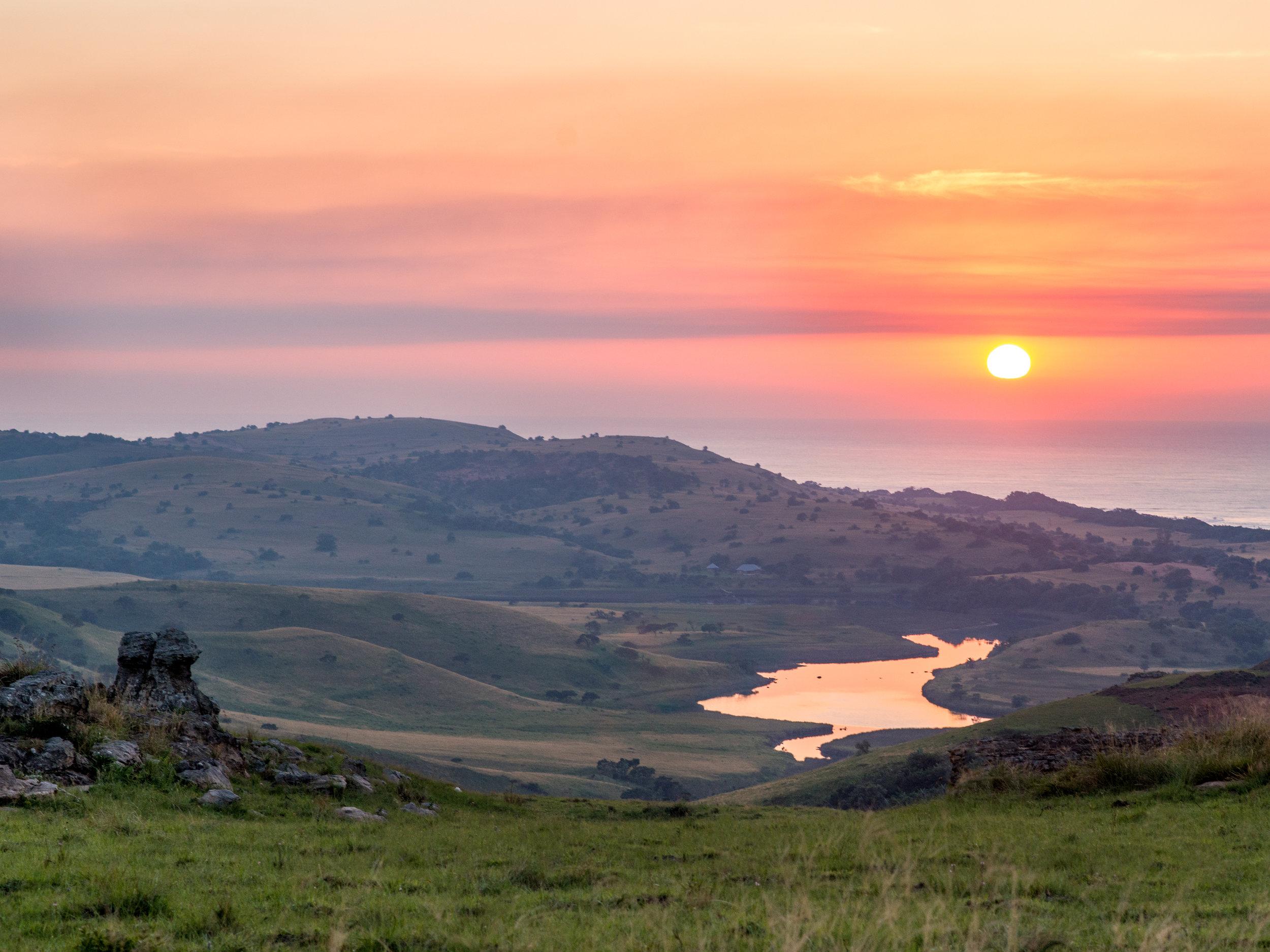 Sunrise over Xolobeni