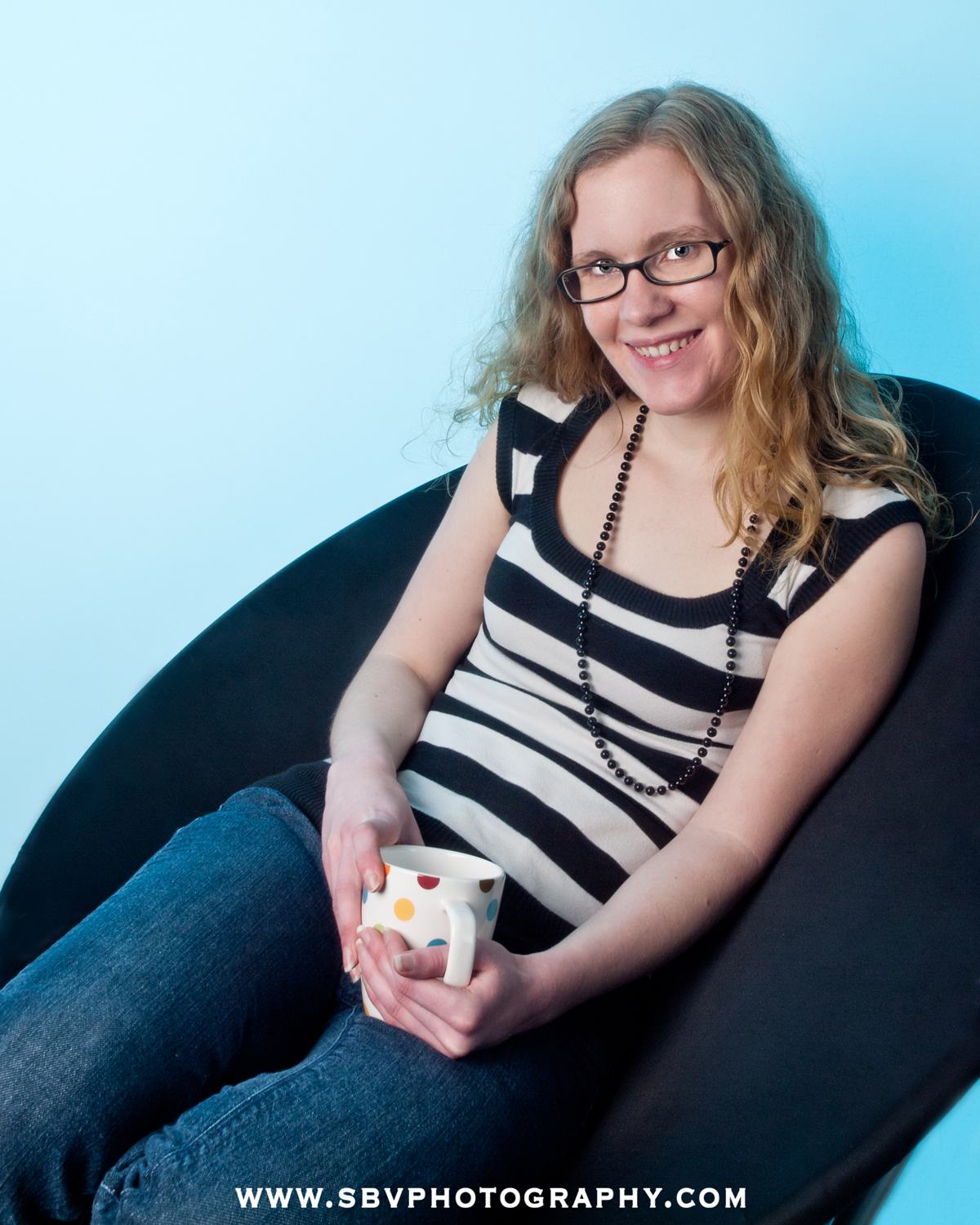 Professional web designer and blogger from Northwest Indiana in a lifestyle publicity photograph.