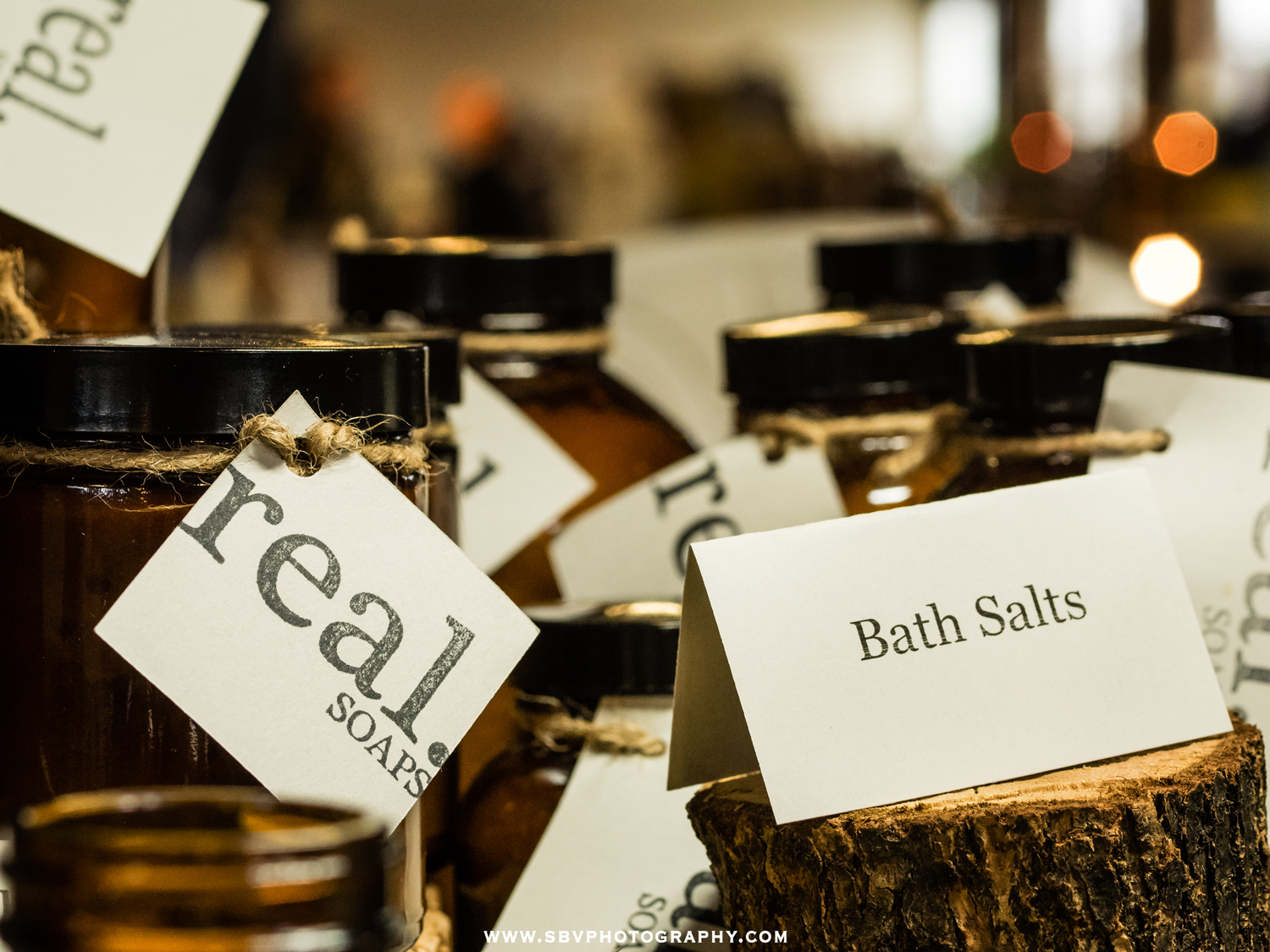 Real soaps and bath salts.