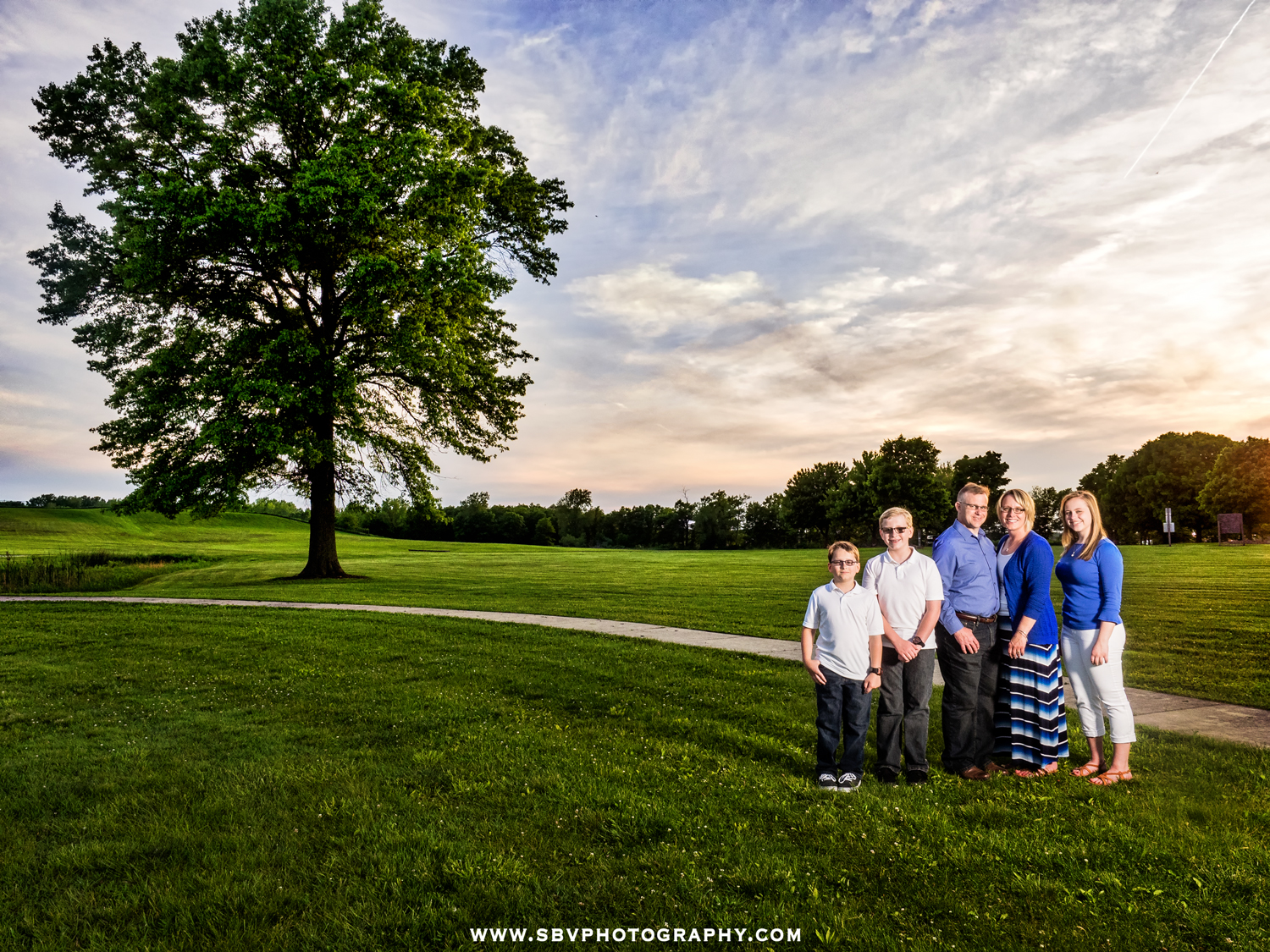 Family photo at Oak Ridge Prairie in Griffith, Indiana.