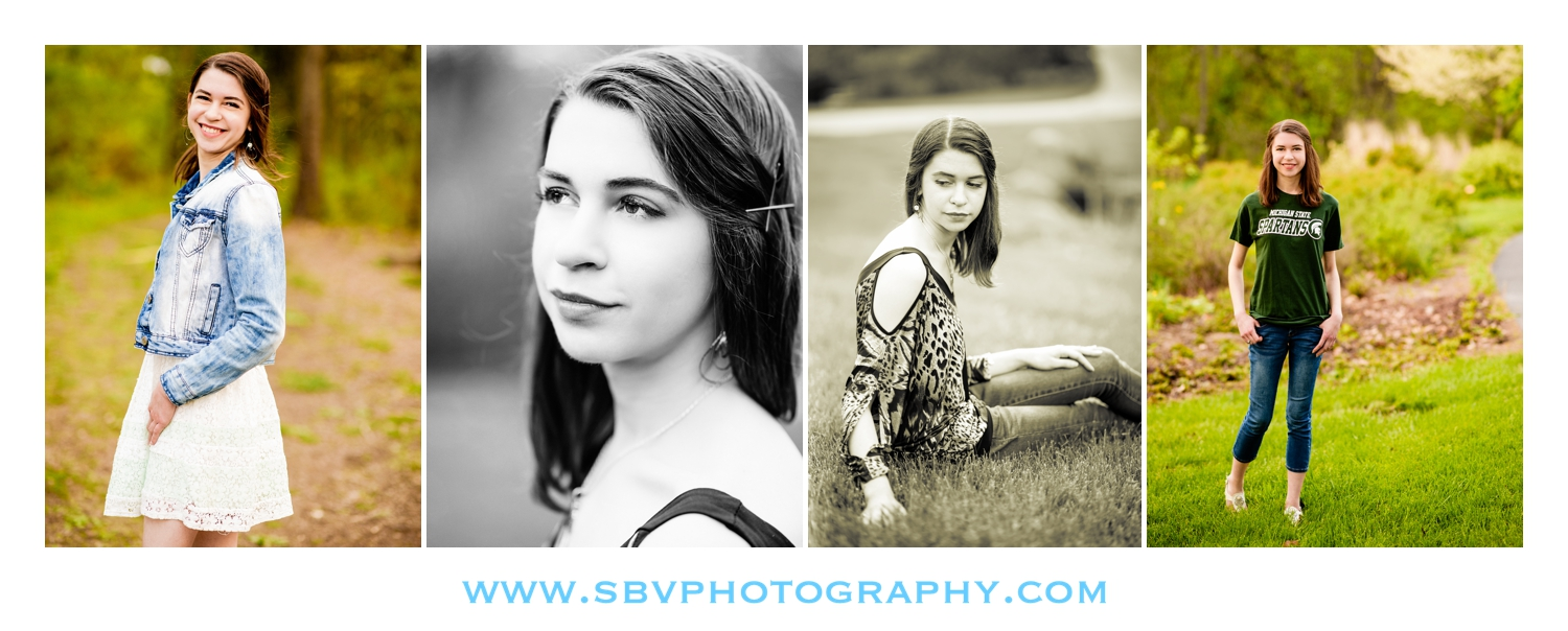 A high school girl goes for a nature vibe for her senior pictures.