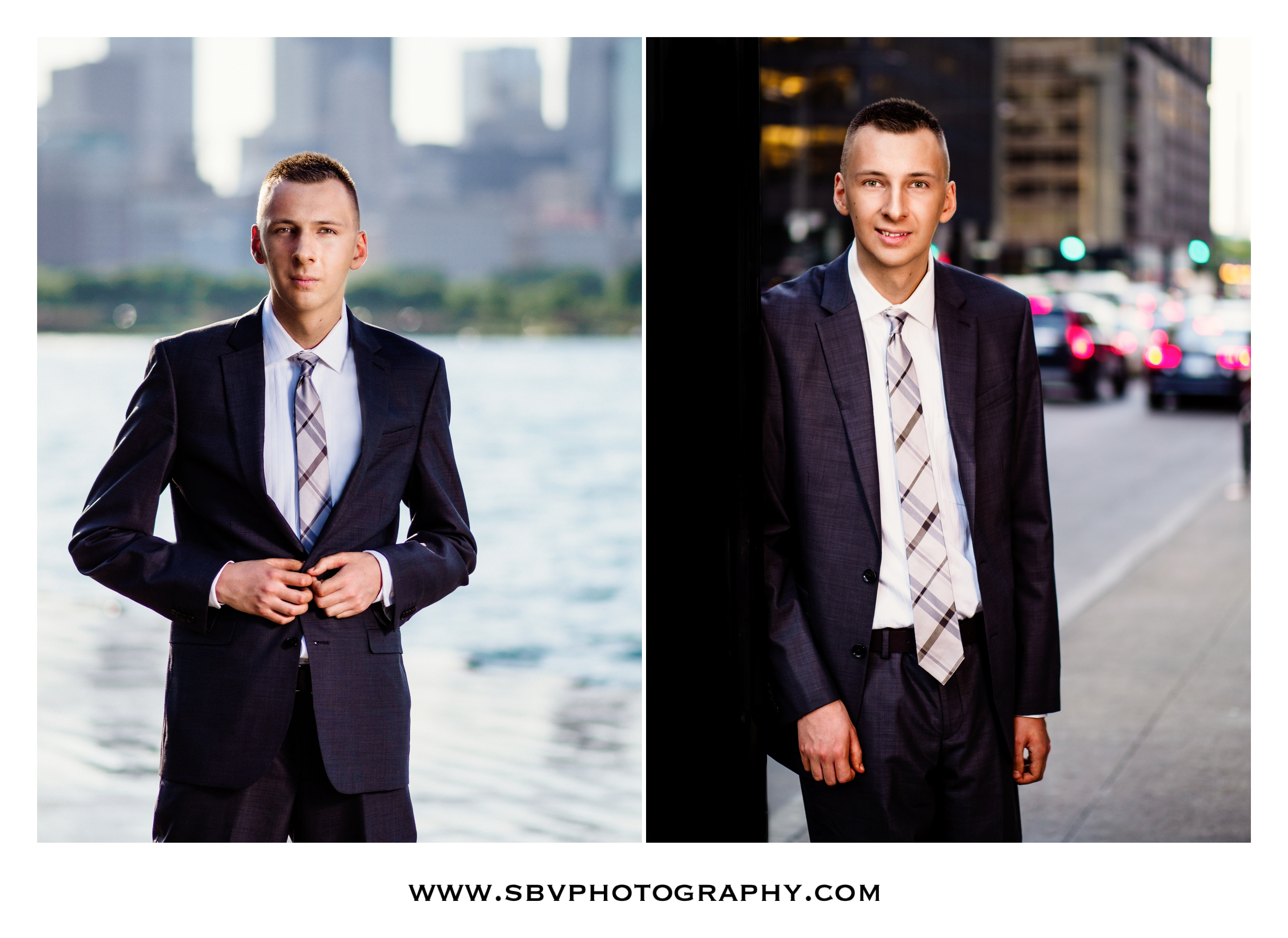 Man about town - a high school senior photo session in Chicago.