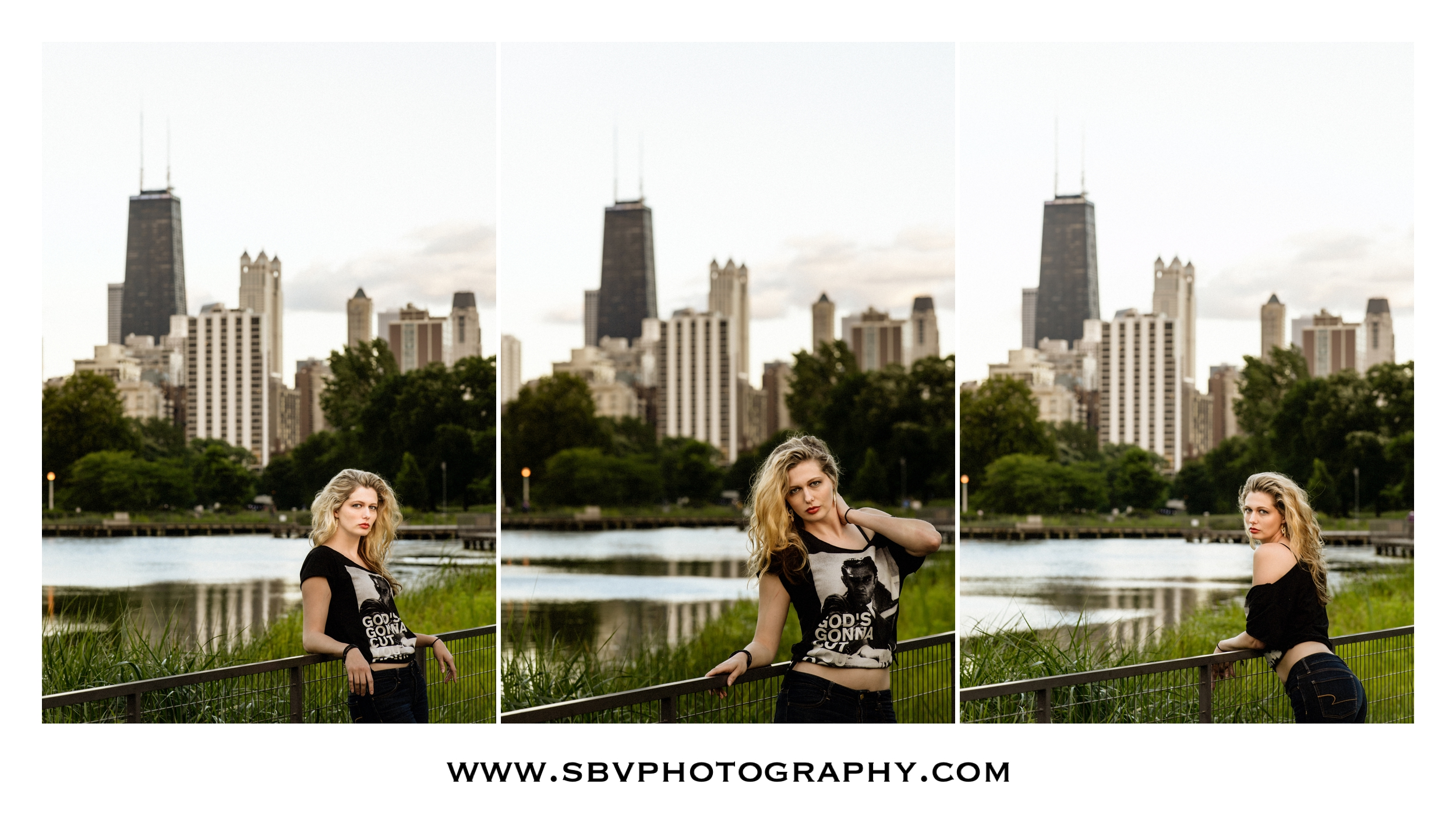 Golden hour portraits at the Lincoln Park Nature Boardwalk.