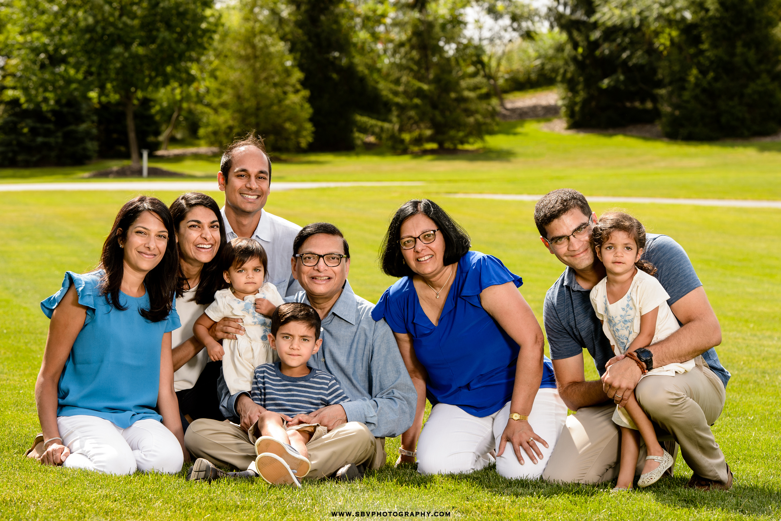 Family lifestyle portrait at Centennial Park in Munster, Indiana