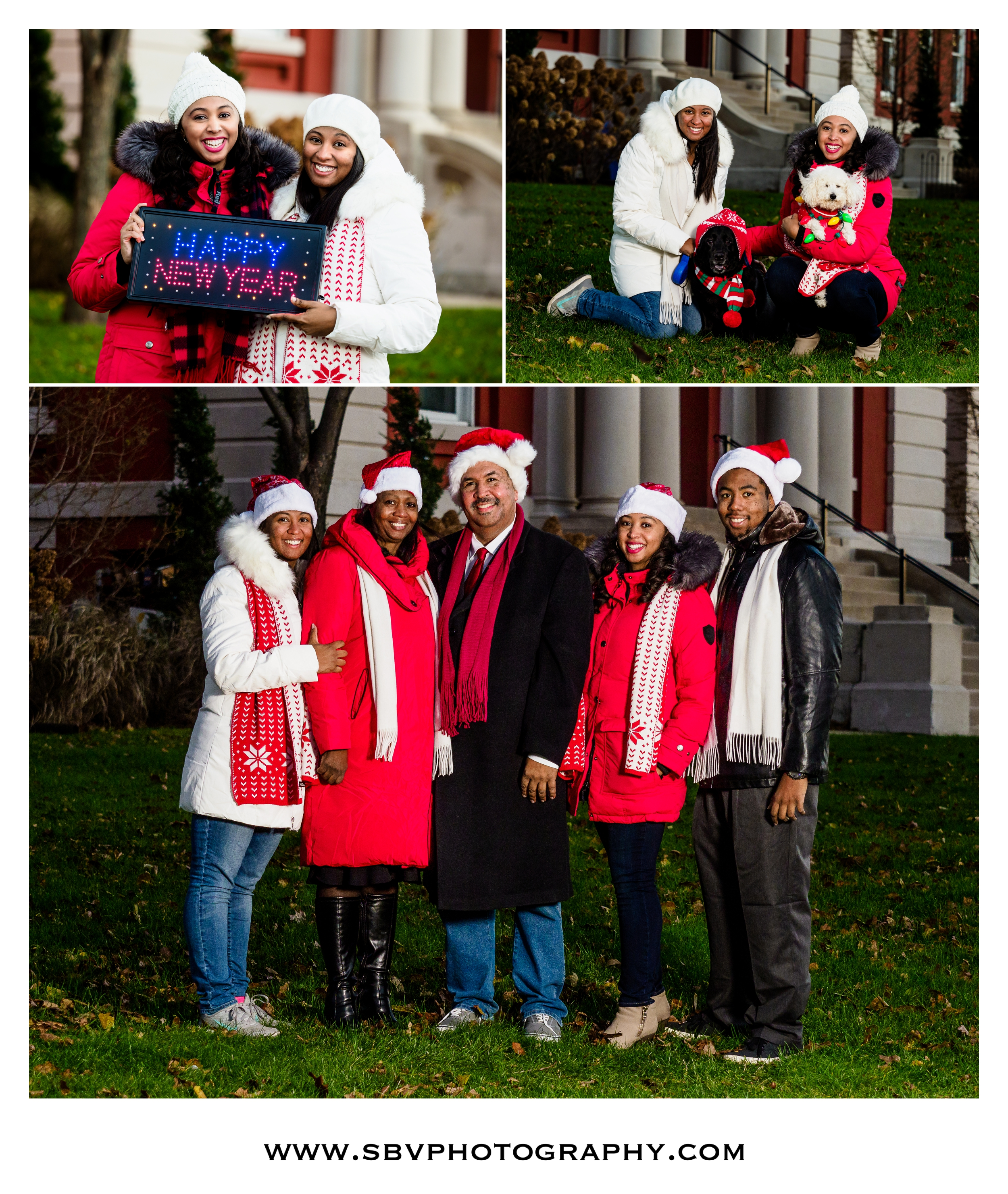 Holiday Family Photos In Crown Point.